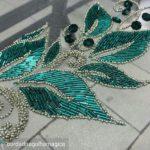 bordado en Pedrería alta costura de Marianela isashi, bordado