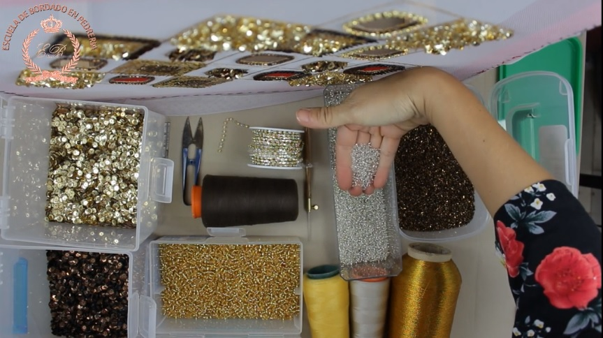bordado luneville - cuarta leccion de bordadoenpedreria.com